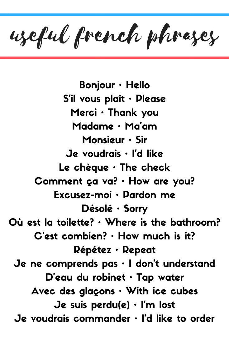 useful french phrases by round trip travel