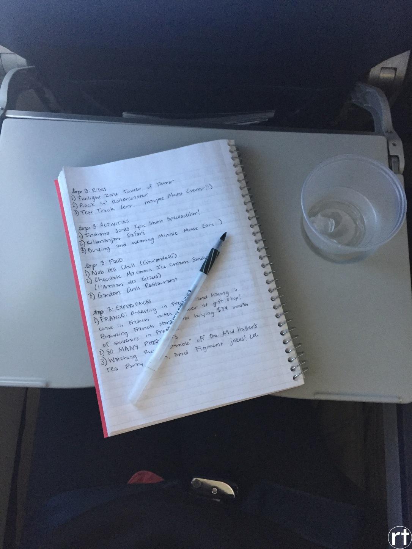 travel journal disney world