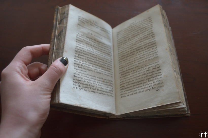 French Antique Book Livre