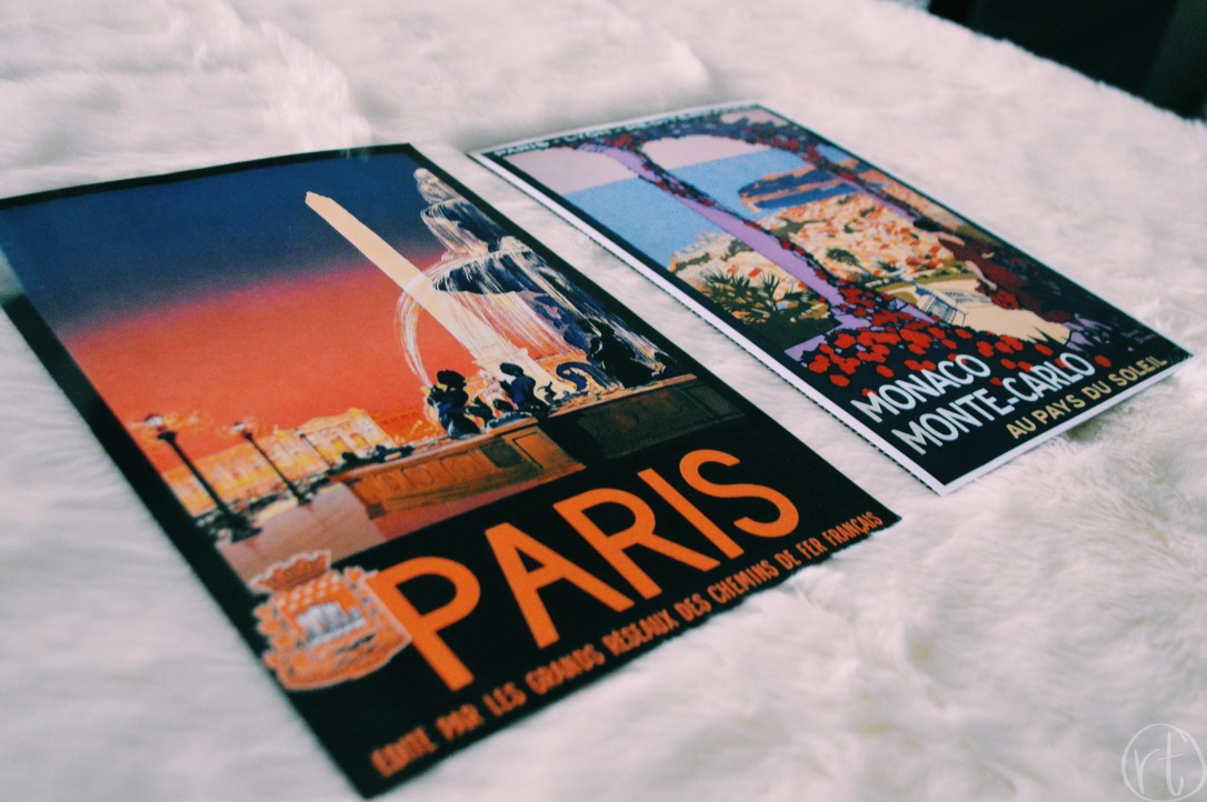 Vintage Travel Prints Paris Monte Carlo