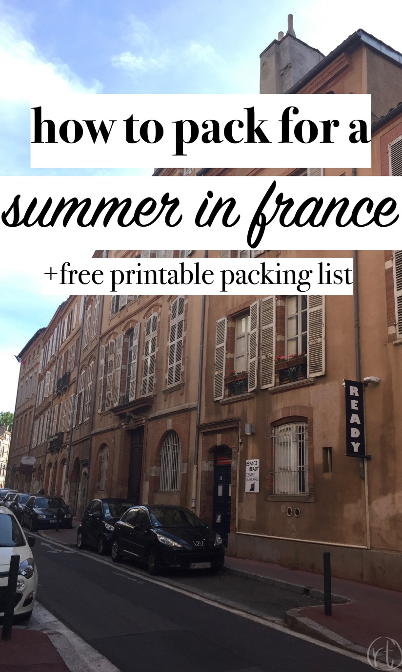 How to Pack for a Summer in France Round Trip Travel.jpg