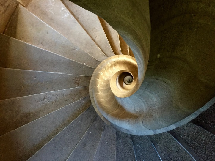 Spiral Staircase Stone Aveyron Castle Medieval Chateau France