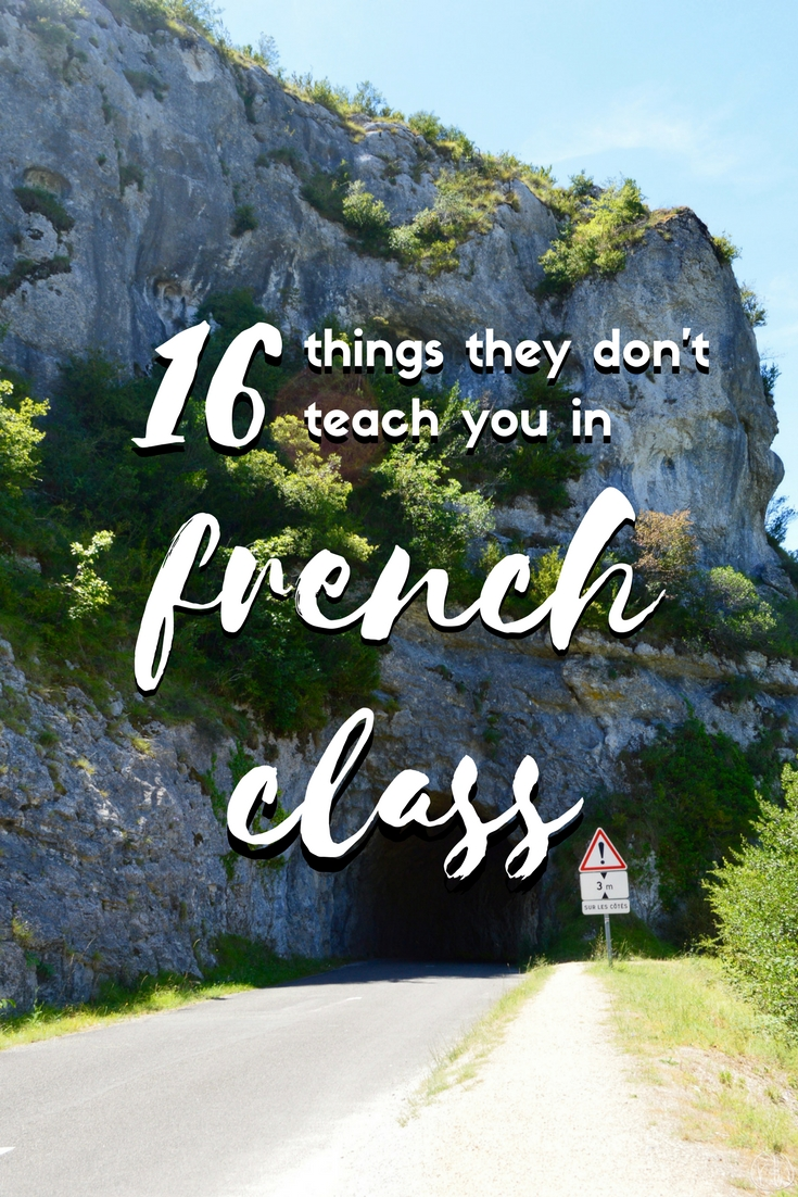 16 things they don't teach you in french class
