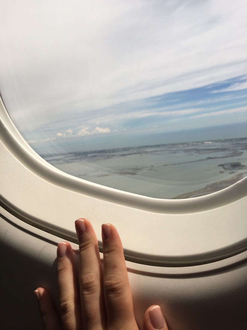 Airplane Window Seat French Manicure Travel