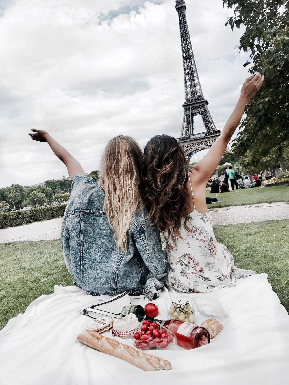 Paris France Eiffel Tower French Picnic Travel