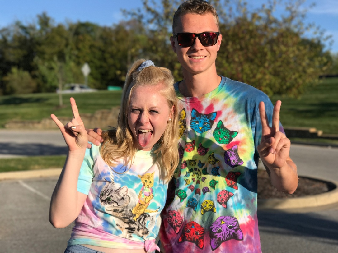 Cat T-Shirt Walmart Tie Dye Judah & the Lion Concert Kitten