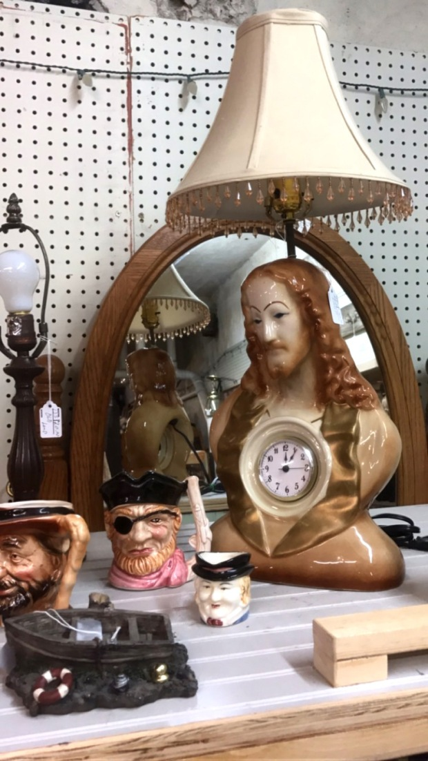 Jesus Lamp Boonville MO Antique Shop
