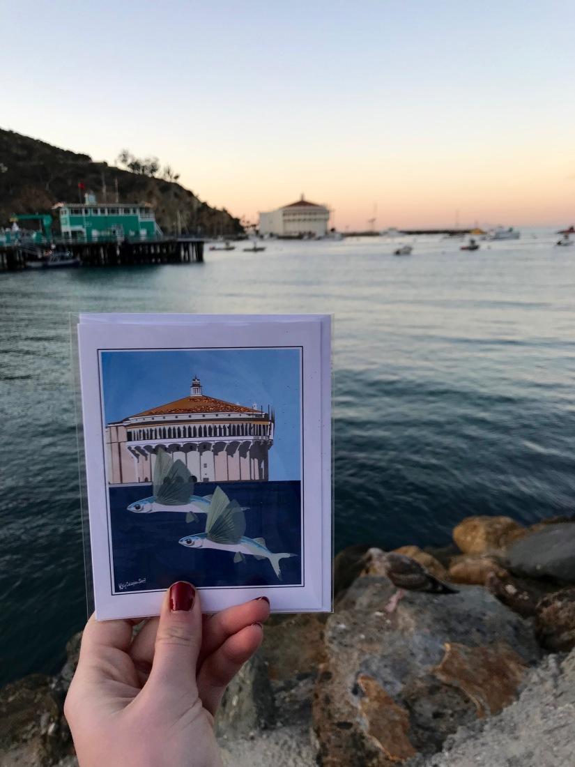 Catalina Island Casino Postcard Ocean