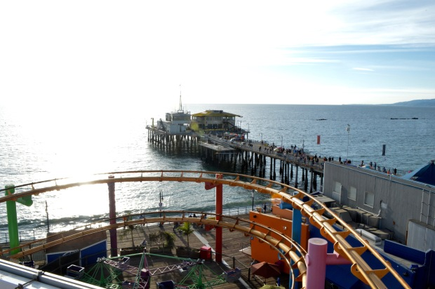 Santa Monica Pier View from Ferris Wheel California