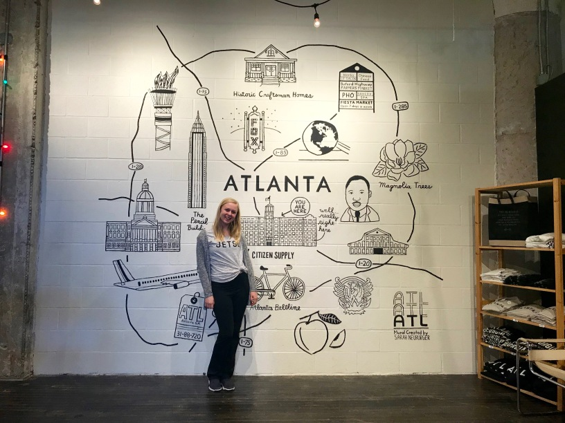 Atlanta Mural Citizen Supply Ponce City Market Georgia