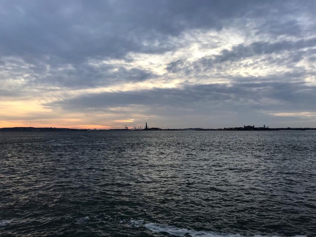 Statue of Liberty Winter Ellis Island New York City