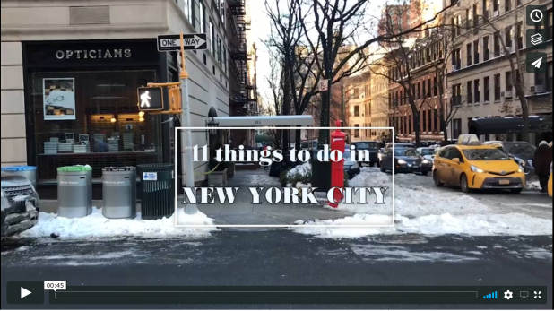 11 Things to do in New York City Video