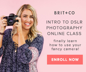 Brit + Co Intro to DSLR Photography Online Class