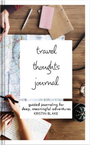 Travel Thoughts Journal by Kristin Blake